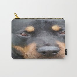 Beautiful Female Rottweiler Portrait Vector Carry-All Pouch