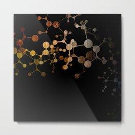 Metallic Molecule Metal Print