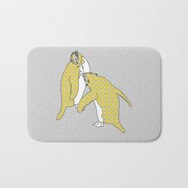 We're A Yellow Pair (Macaroni Penguins) Bath Mat