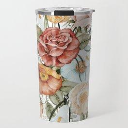 Roses and Poppies Travel Mug