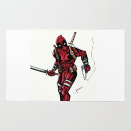 Wade Wilson. Merc with a mouth Rug