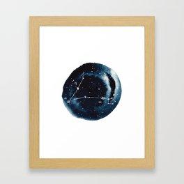 Pisces Zodiac Constellation Framed Art Print