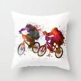 BMX Race Throw Pillow
