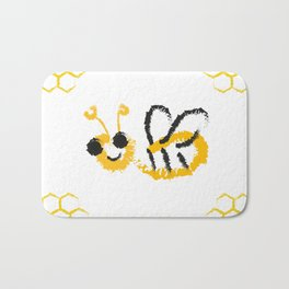 Happy bee Bath Mat