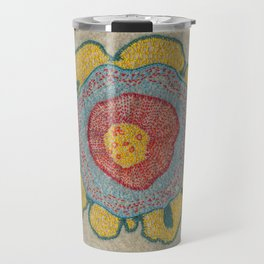 Growing - Pinus#1 - embroidery based on plant cell under the microscope Travel Mug