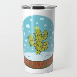 Cactus Snow Globe Travel Mug