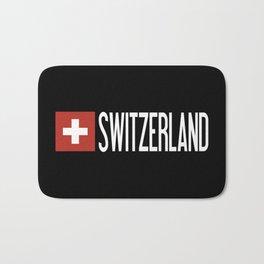 Switzerland: Swiss Flag & Switzerland Bath Mat