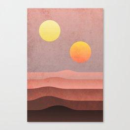 tatooine sunset Canvas Print
