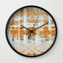 needlepoint sampler in sunny rays Wall Clock
