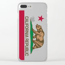 California flag, High Quality Authentic Clear iPhone Case