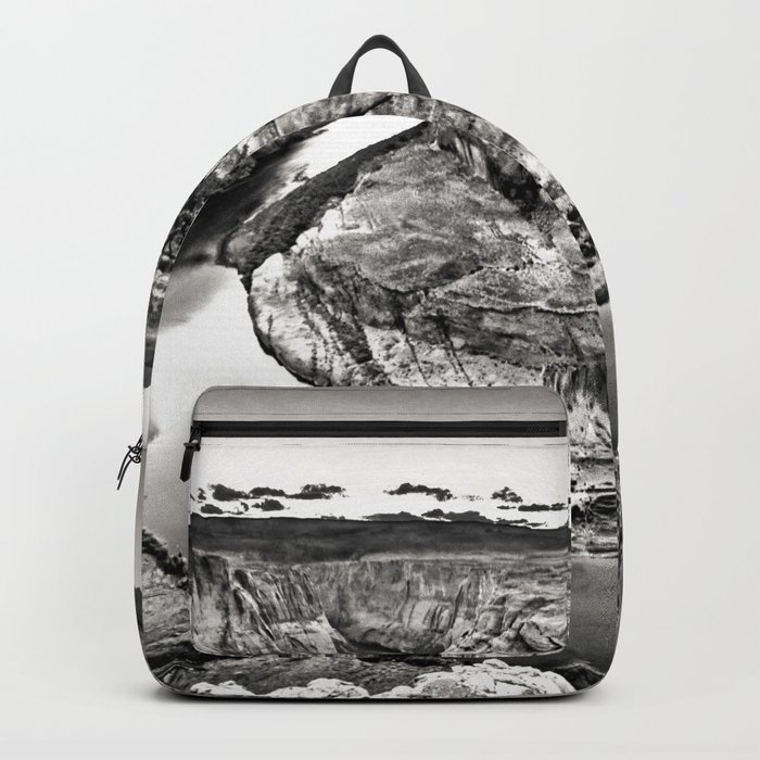 Horseshoe Bend Arizona Black and White Backpack