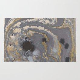 Fluid Gold Concrete Rug