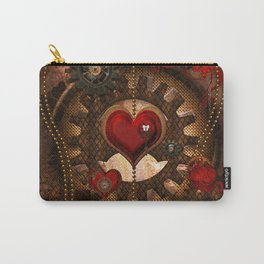 Steampunk, awesome steampunk heart Carry-All Pouch