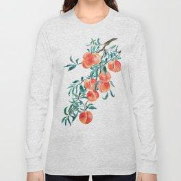 peach watercolor Long Sleeve T-shirt