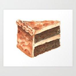 Chocolate Cake Slice Art Print