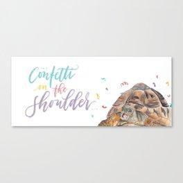 Confetti turtle Canvas Print