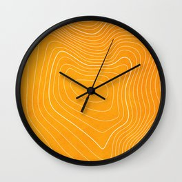 Pikes Peak Topography Wall Clock