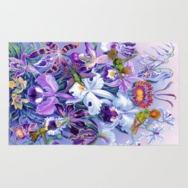 Orchids & Hummingbirds Rug