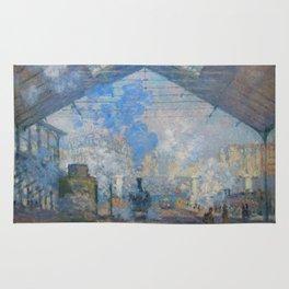 "Claude Monet ""La Gare Saint-Lazare"" Rug"