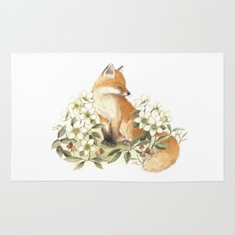Springtime Fox Rug