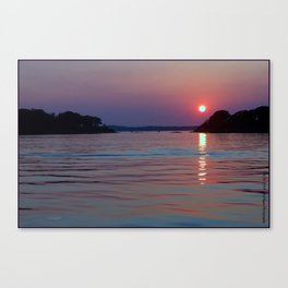 Maine Summer Sunset Canvas Print