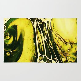 Tint Blot - Cracked Glass Yellow Rug