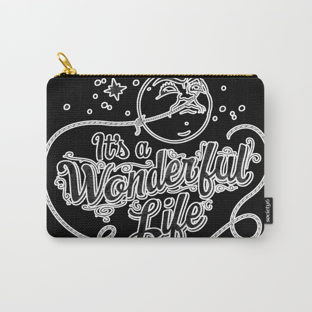 It's A Wonderful Life 2 Carry-all Pouch by Graphicsbyhand CAP8679306