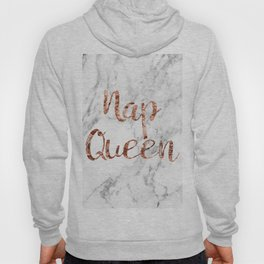 Nap queen - rose gold on marble Hoody