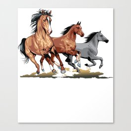 Running Horses Shirt - Gift For Horse Lovers Canvas Print