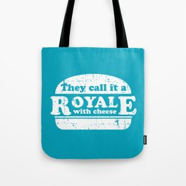 Pulp Fiction - royale with cheese Tote Bag