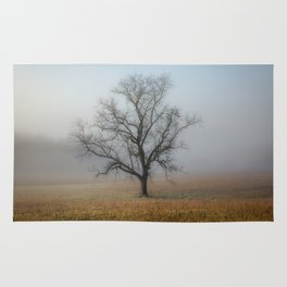 In a Fog - Mystical Morning in the Great Smoky Mountains Rug