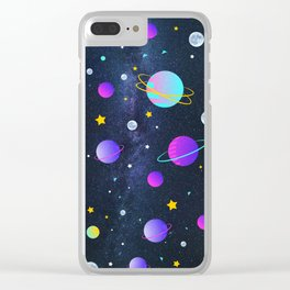 Stars,moons and planets Clear iPhone Case