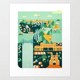 Floripa Brazil Art Print