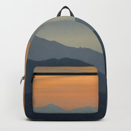 """Sunset at the mountains"". Dreaming... Backpack"