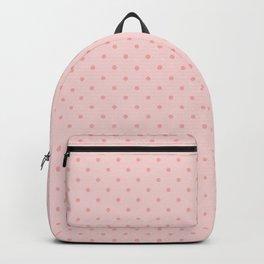 Small Two Tone Blush Pink Polka Dot Spots Backpack