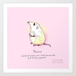 Triste dyr: Pessimus Art Print