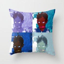 4 faces Throw Pillow