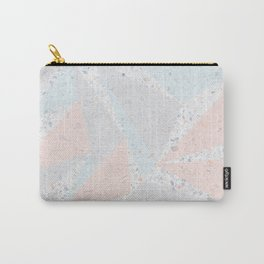 Soft terrazzo pastel with abstract geometric triangles Carry-All Pouch