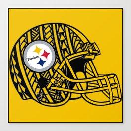Polynesian style Steelers Canvas Print