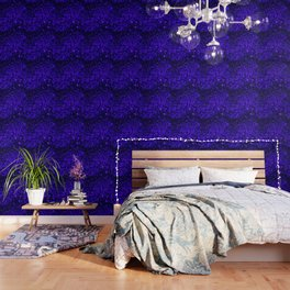 Christmas Blue Purple Night Snowflakes Wallpaper