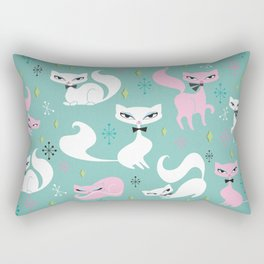 Swanky Kittens Rectangular Pillow