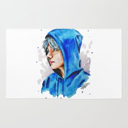 Taehyung watercolor BTS Rug
