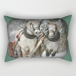 Christmas Horses Rectangular Pillow