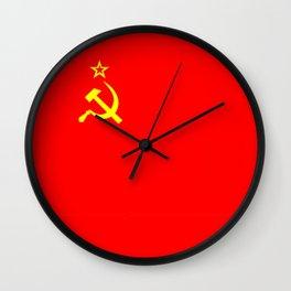 ussr cccp russia soviet union communist flag Wall Clock