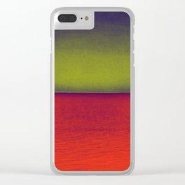 gradient horizon Clear iPhone Case
