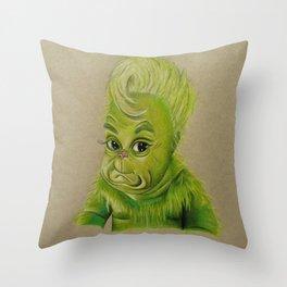bb grinchy Throw Pillow