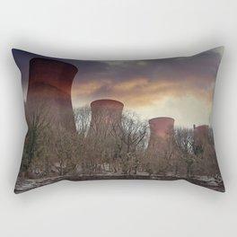 Sunset At Ironbridge Power Station Rectangular Pillow