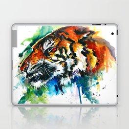 Orange Mad Tiger Watercolor Laptop & iPad Skin