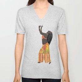 Belly dancer 11 Unisex V-Neck
