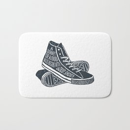 A Journey Of A 1000 Miles Begins With A Single Step Bath Mat
